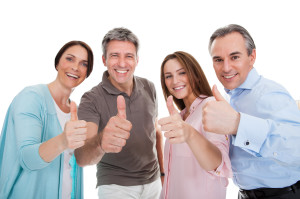 Group Of Happy People Showing Thumb Up Sign
