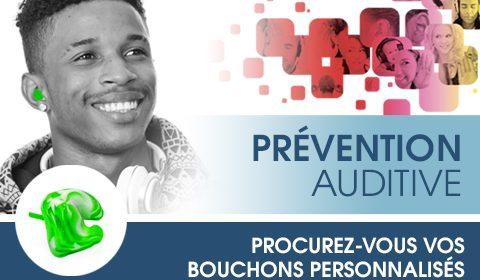 Prévention auditive – bouchons personnalisés